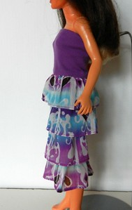 TT Purple Top Dress or Skirt w Purp & Turq Ruffles side