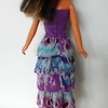 TT Purple Top Dress or Skirt w Purp & Turq Ruffles back