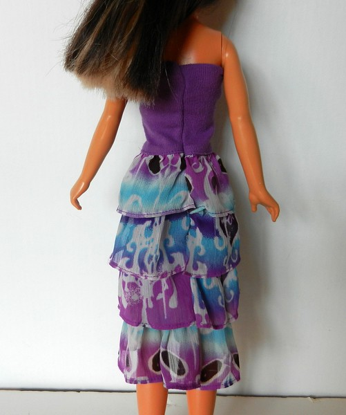 TT Purple Top Dress or Skirt w Purp & Turq Ruffles back