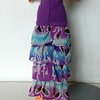 TT Purple Top Dress or Skirt w Purp & Turq Ruffles skirt back