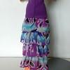 TT Purple Top Dress or Skirt w Purp & Turq Ruffles skirt back