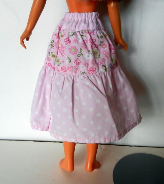 TT Pink Print 3-Tier Skirt back