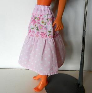 TT Pink Print 3-Tier Skirt side