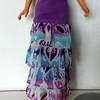 TT Purple Top Dress or Skirt w Purp & Turq Ruffles skirt front