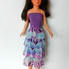 TT Purple Top Dress or Skirt w Purp & Turq Ruffles full