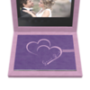Album Cover Cloud Leatherette in Purple with the design in the lilac color overprint View 1