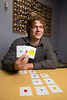 Maple Grove, MN - MGM_0113_LearningRX_Weiner - Elliott Weiner works with kids at LearningRX and has received a national award for his Cognitive Skills training for students. He uses Reasoning Brain Cards to work with some of his students to help them improve. Photo by © Todd Buchanan 2012 Technical Questions: todd@toddbuchanan.com; Phone: 612-226-5154.
