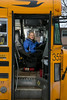 St. Louis Park, MN - WOD 3425 Feb 2014 Penny Schefland Bus: Penny Schefland has been a school bus driver for 25 years in the Woodbury area. She is with her bus here today, Monday December 23. 2013  Photo by © Todd Buchanan 2013 Technical Questions: todd@toddbuchanan.com