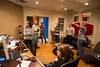 Minneapolis, MN - EDN_0313_2202_Communications_Group:  Andre Bergeron, of Babble On Recording Studios shows JD and members of the Edina Communications group around their studios in downtown Minneapolis here today, Wednesday January 30, 2013.  Date: Wednesday January 30, 2013.  Photo by © Todd Buchanan 2013 Technical Questions: todd@medmeetingimages.com; Phone: 612-226-5154.