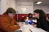 Maple Grove, MN -MGM_0313_2249_Mathnasium: Mathnasium's local office helps students who are trying to improve their math skills. Breann Leier (cq) helps Lexie McCarty, right (dark hair) and Serena Cramer (green sweat shirt) as well as Cody Steelman (left). date: Wednesday January 23, 2013.  Photo by © Todd Buchanan 2013 Technical Questions: todd@toddbuchanan.com; Phone: 612-226-5154.