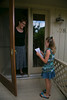 Eden Prairie, MN - SWM 0912 Aletta - Aletta Bloomberg was able to talk friends and neighbors into donate over $850 dollars to the World Wildlife Fund to protect animals. She lives in Eden Prairie and was going door to door and talking to neighbor Mary Burchette who was one of her donors. Photo by © Todd Buchanan 2012 Technical Questions: todd@toddbuchanan.com;