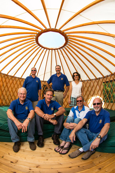 Excelsior, MN - SWM 0912 Rotary Yurt - Mark Senn and members of the Rotary worked to build a Yurt at Camp Tanadoona in Excelsior. Photo by © Todd Buchanan 2012 Technical Questions: todd@toddbuchanan.com;
