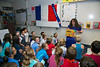 Edina, MN - EDN3222 - Immersion Schools French - Bianca Suglia leads her class at Normandale Elementary French Immersion school here today, Thursday October 10, 2013. Photo by © Todd Buchanan 2013 Technical Questions: todd@toddbuchanan.com; Phone: 612-226-5154.