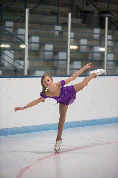Minnetonka, MN - LKM3281 - Berit Cummings - Dr. Berit Cummings, 8, is trying to make her mark in the ice skating world where she competes in tournaments around the midwest. She works out at the Minnetonka arena here today, Thursday October 10, 2013. Photo by © Todd Buchanan 2013 Technical Questions: todd@toddbuchanan.com; Phone: 612-226-5154.