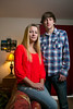"""Minnetonka, MN - SLP3216 - Karlee and Austin Johnson have been working with the """"Growing Through Grief"""" organization in dealing with the loss of their father. They are at her home here today, Monday October 14, 2013. Photo by © Todd Buchanan 2013 Technical Questions: todd@toddbuchanan.com; Phone: 612-226-5154."""