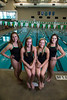 St Louis Park, MN - EDM 1112 - Edina High School's Girl's Swim Team Captain's - LtoR:   Elise Georis, Heather Laedtke, Madeleine Eden, Yasmeen Almog Wednesday September 26, 2012.  Date: Wednesday September 26, 2012 Photo by © Todd Buchanan 2012 Technical Questions: todd@toddbuchanan.com; Phone: 612-226-5154.