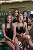 St Louis Park, MN - EDM 1112 - Edina High School's Girl's Swim Team Captain's - LtoR:   Heather Laedtke, front left, Madeleine Eden, Front right, Back Left, Elise Georis, Back right, Yasmeen Almog Wednesday September 26, 2012.  Date: Wednesday September 26, 2012 Photo by © Todd Buchanan 2012 Technical Questions: todd@toddbuchanan.com; Phone: 612-226-5154.