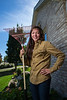 Plymouth, MN - MGM 1112 - Maddie Woo Started her own lawn care business at age 12 and now has a busy schedule with hockey and keeping her clients happy.  Wednesday September 26, 2012.  Date: Wednesday September 26, 2012 Photo by © Todd Buchanan 2012 Technical Questions: todd@toddbuchanan.com; Phone: 612-226-5154.