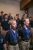 Minnetonka, MN - MGM 1212 Boys Choir- Job#11046 - North Star Boys' Choirmembers rehearse at a local church as Francis Stockwell, Artistic Director leads the in practice  here today, Friday, October26, 2012. Photo by © Todd Buchanan 2012 Technical Questions: todd@toddbuchanan.com; Phone: 612.226.5154