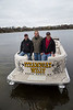 Maple Grove, MN - MGM 1212 Pontoon Trip - Job#11047 - Maple Grove buddies Dave Ramler, Doug Schon and Willis Hannenberg did last winter: they planned a pontoon trip to the Gulf of Mexico via the Mississippi, Ohio and Tennessee rivers here today, Friday, October26, 2012. Photo by © Todd Buchanan 2012 Technical Questions: todd@toddbuchanan.com; Phone: 612.226.5154