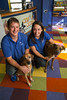 Eden Prairie, MN - SWM 1212 Around Town Dogs - Job#11093 - Ashley Wendel and Ryan Blum met working at a doggie daycare and have two dogs between them, so when it came to starting a life together, opening their own doggie daycare seemed like a natural fit. The engaged couple relocated to Eden Prairie in November of 2011 to open Wag 'N Woof, which is also a dog boarding and training facility here today, Sunday, October28, 2012. Photo by © Todd Buchanan 2012 Technical Questions: todd@toddbuchanan.com; Phone: 612.226.5154