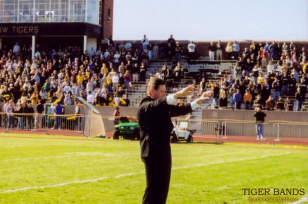 Director of Bands Dr. Craig T. Paré Conducts Our National Anthem