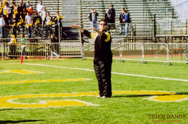 Director David Ziemba Conducts the Tiger Pep Band on the Field