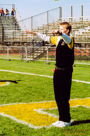 Director Daniel M. Reck Conducts the Tiger Pep Band on the Field