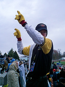 Director Daniel M. Reck '03 Conducts the Tiger Pep Band During the Battle for the Monon Bell