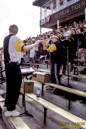Director Daniel M. Reck '03 Conducts the Tiger Pep Band