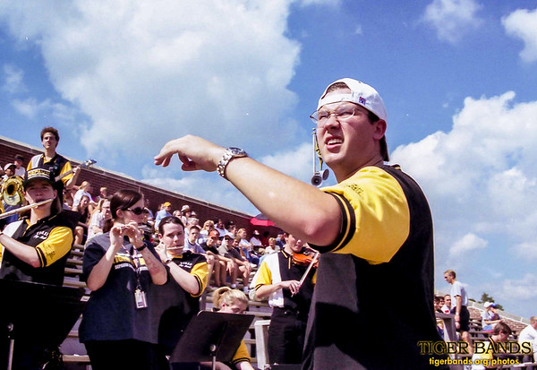 Director David Ziemba '03 Conducts the Tiger Pep Band