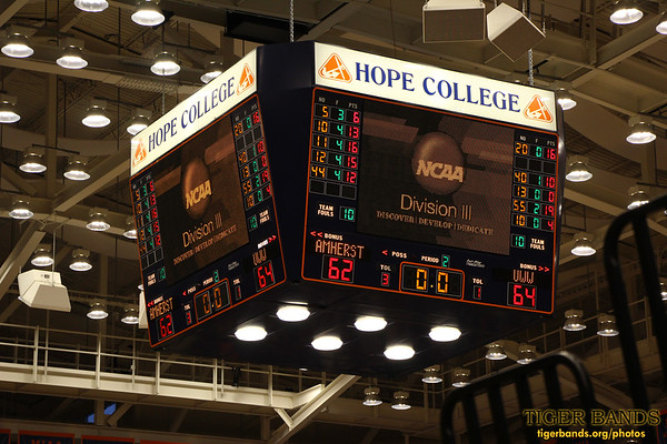 Tiger Pep Band - DePauw Basketball (w) vs. Williams Collge - NCAA Final Four at Hope College