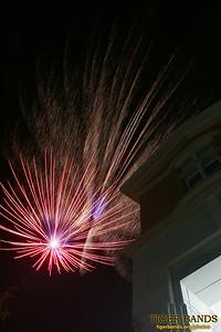 Fireworks over Julian Center at DePauw University
