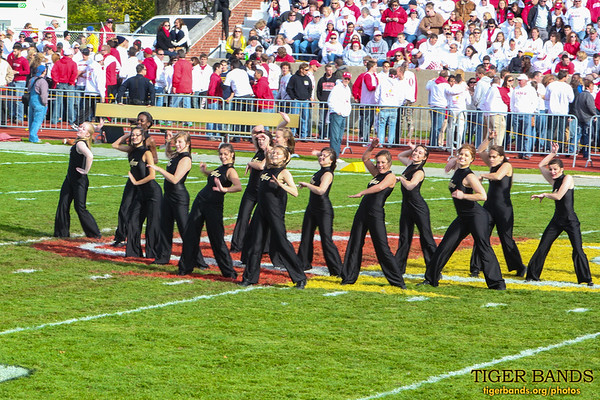 DePauw Dance Team at the Battle for the Monon Bell