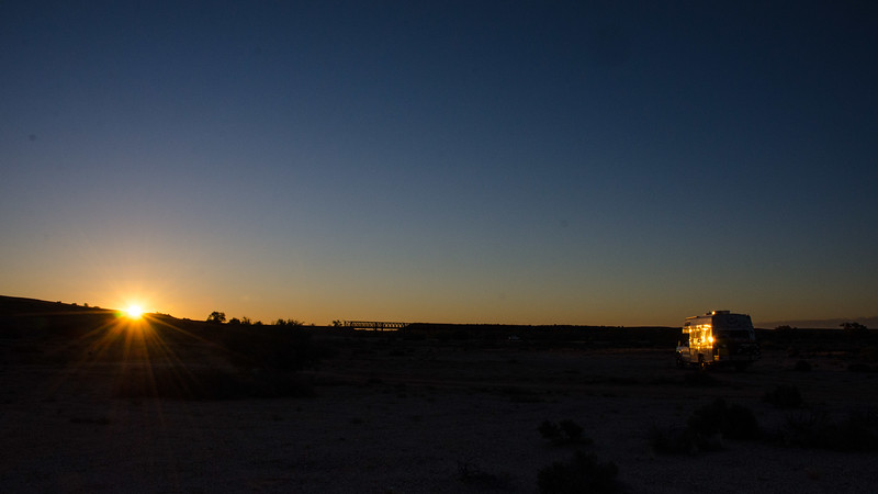 Tiger sleeps along the Oodnadatta Track on the way to Uluru and Alice Springs.
