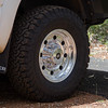 The new wheels are mounted with<br /> 265x75r16 BF Goodrich All Terrain T/A K02 tires.