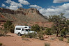 Grand Canyon National Park, Arizona, Tuweep campground on the north rim. Our Tiger is brand new in 2007.