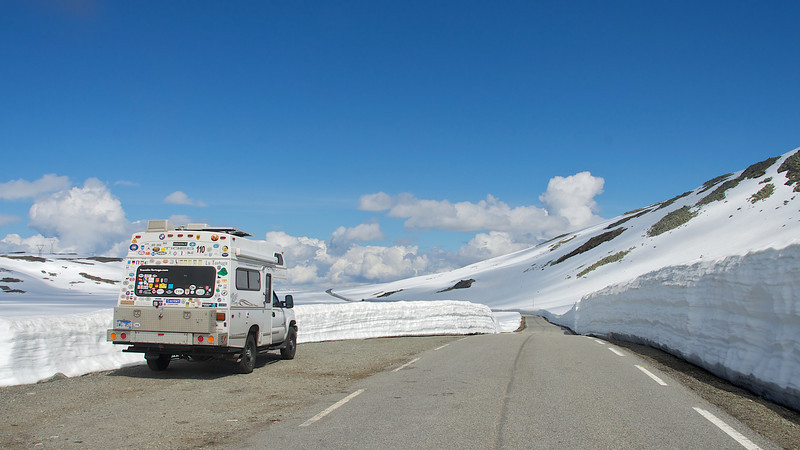 4200 feet going over Norsund Pass, Norway