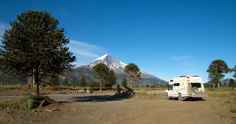 Overnight near Volcan Lanin, Argentina.
