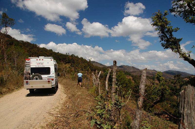 Picking berries in El Salvador