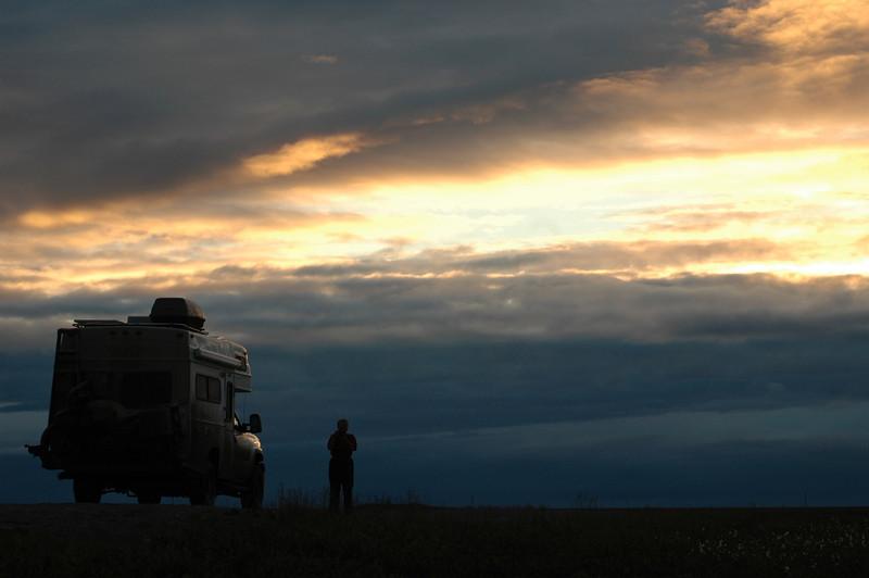 Sunset on the Haul Road, Alaska