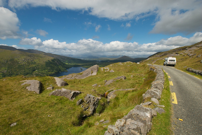 The view from the top of a small pass on the Berra Peninsula, Ireland