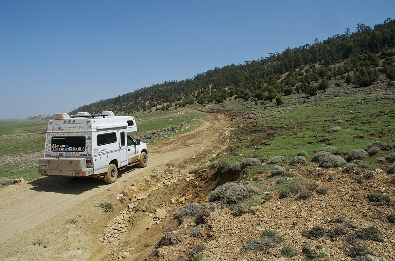It may not look like a lot, but we had about 200 yards of mud ahead of us here in the Middle Atlas Mountains