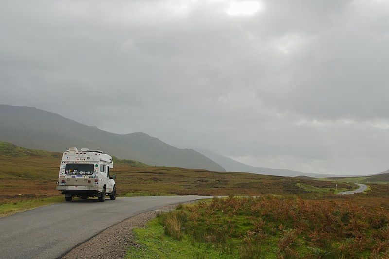 Alone in the Scottish highlands