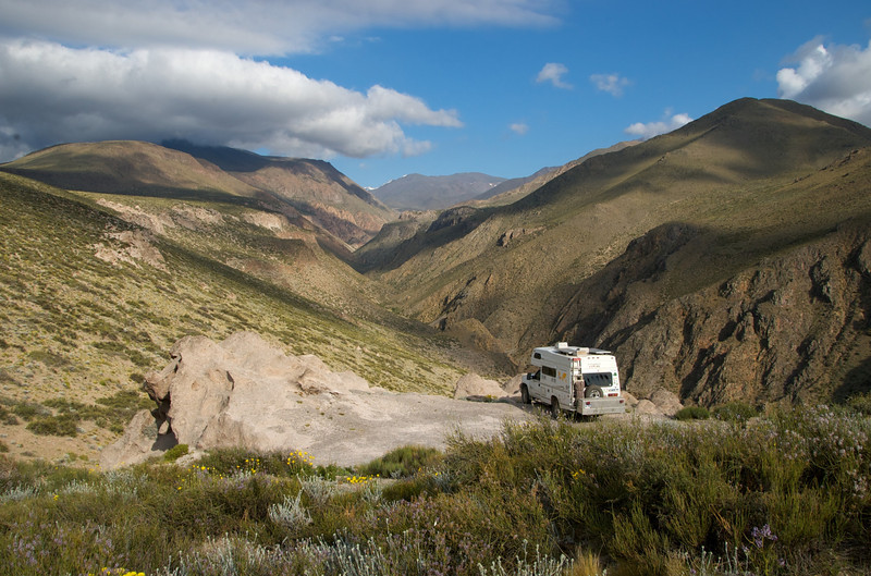 A canyon overlook overnight spot, Argentina.