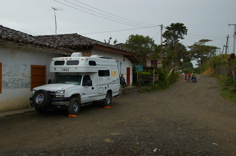 Overnight in Llanadas, Colombia, <br /> where we were invited to dinner by a local family