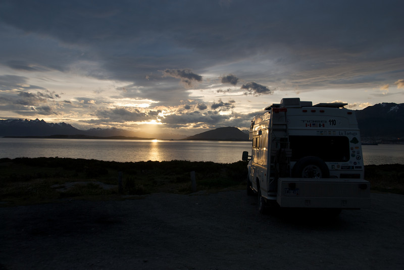 Sunset over the Beagle Channel, Ushuaia, Tierra del Fuego, Argentina
