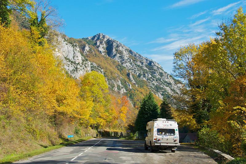 Enjoying fall in the Pyrenees