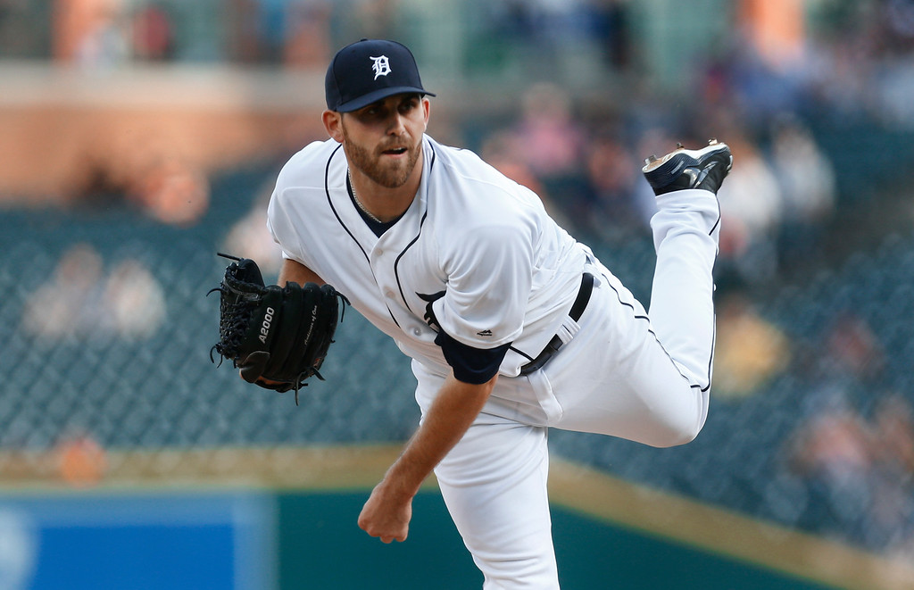 . Detroit Tigers pitcher Matt Boyd throws against the New York Yankees during the first inning of a baseball game in Detroit, Thursday, June 2, 2016. (AP Photo/Paul Sancya)
