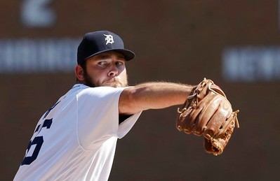 . Detroit Tigers relief pitcher Kyle Ryan throws during the seventh inning of a baseball game against the Minnesota Twins, Wednesday, April 12, 2017, in Detroit. (AP Photo/Carlos Osorio)
